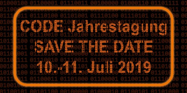 CODE Jahrestagung 2019 – Save the Date