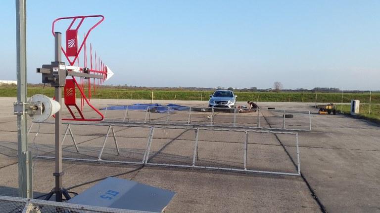 Freifeld-Fahrzeugdrehstand zur Messung von Antennendiagrammen