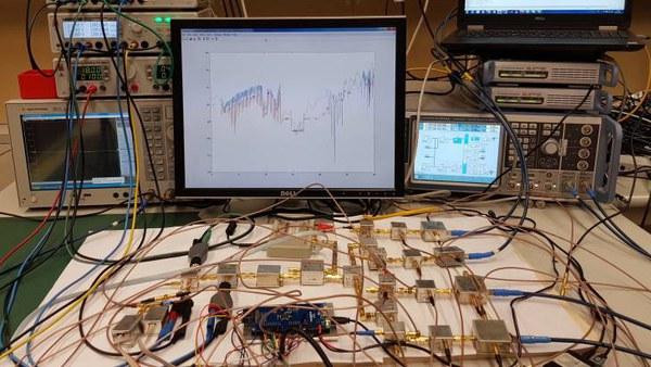 Messplatform für Testfahrten C2C/C2X im Labor