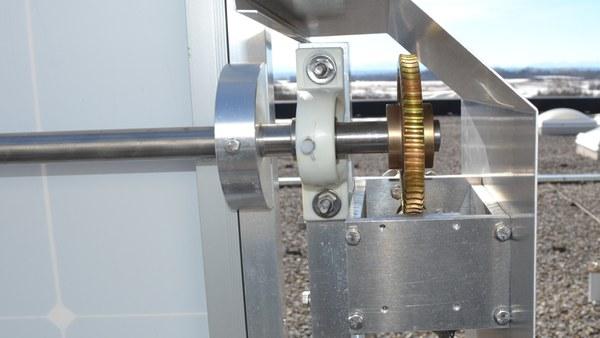 Motor zur Drehung auf der horizontalen Achse