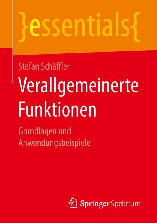 Verallgemeinerte Funktionen - Cover