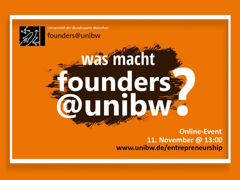 Brown Bag (online) ++ Was macht founders@unibw?