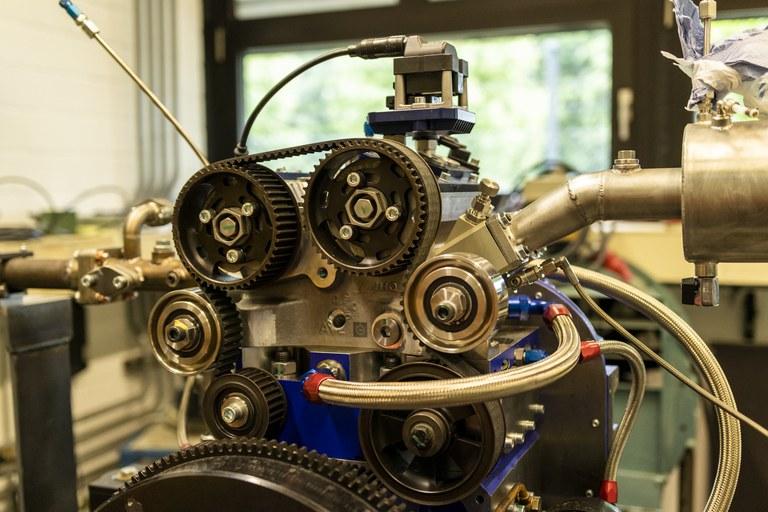 AVL Einzylinder-Forschungmotor mit optischem Zugang