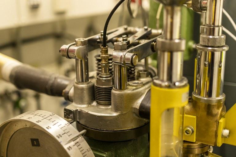 BASF Einzylindermotor für Kraftstofftests