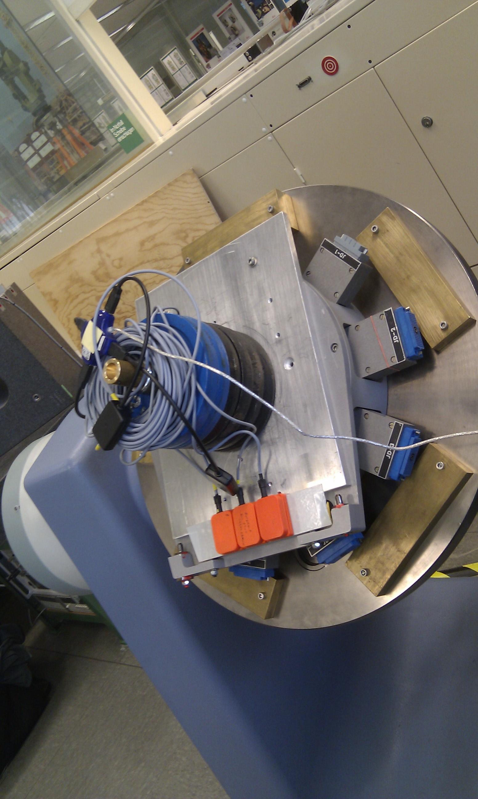 Versuchsaufbau Inertailsensoren