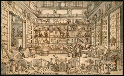 """Sebastian Le Clerc (der Ältere), Zeichen von """"Le Cabinet de M. Le Clerc"""", ca. 1700, Science Museum Group Collection"""