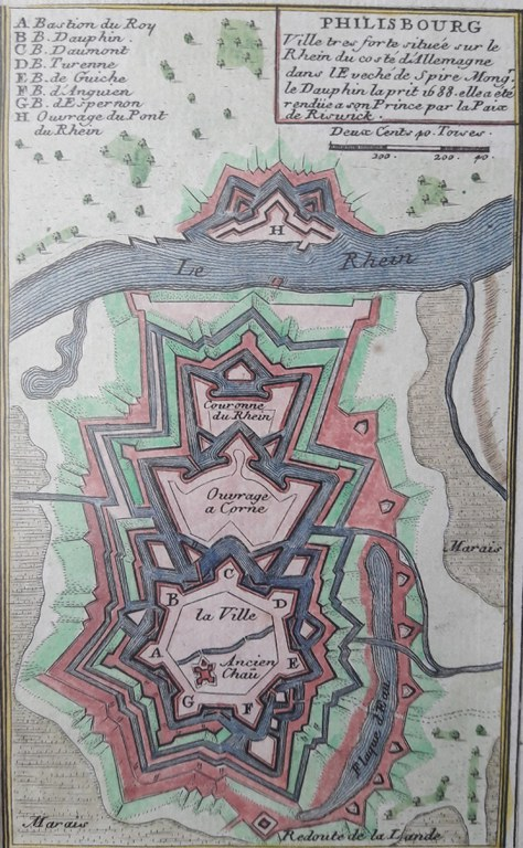 Befestigung Philippsburgs 1688, Abb. Stadtarchiv Philippsburg, Kupferstichkabinett