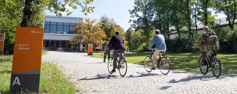 Unterwegs am Campus