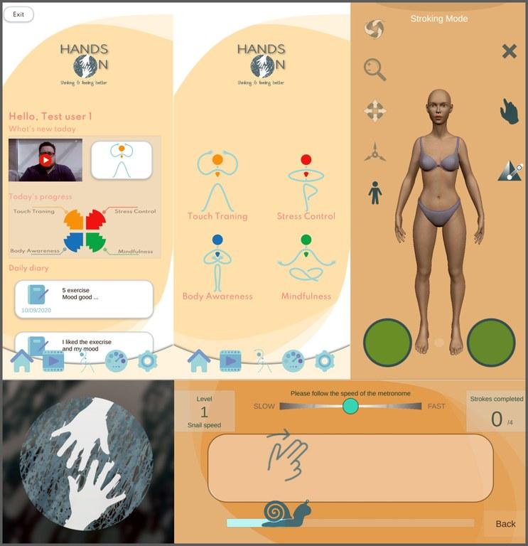 "Screenshots aus der App ""HandsOn"""