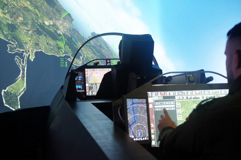Zweisitziger-Kampfflugzeug-Cockpitsimulator