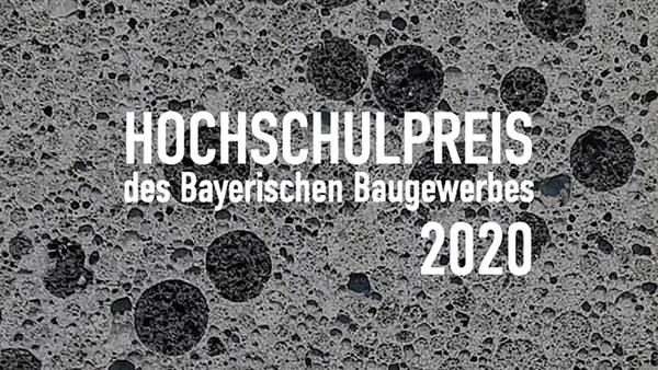 Hochschulpreis des Bayerischen Baugewerbes für Henrik Gutsch