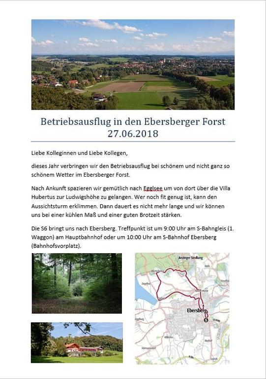 Einladung Ebersberger Forst