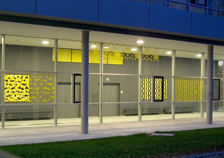 Uni Erlangen, Wandgestaltung Fred Ziegler