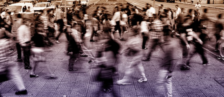 Urban Scene People Moving