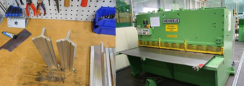 Montieren von technischen Elementen - Blechschneidemaschine