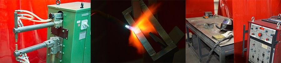 Verschiedene Schweißverfahren: MAG (Metall-Aktivgasschweißen), WIG (Metall-Inertgasschweißen), Gasschweißen, Elektrodenschweißen, Punktschweißen) Verschiedenste Metalle: Stahl, Aluminium, Edelstahl