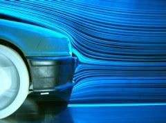 Sichtbarmachung der Strömung an einem PKW-Bug mit Rauchdrahtmethode und Laserlichtschnittverfahren, Diplomarbeit Lt. K. Utzmann (2003).