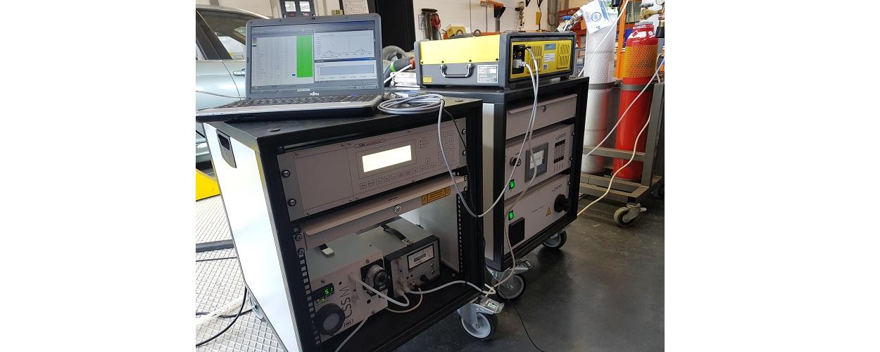 Fourier-Transformations Spektrometer (FTIR) inkl. Kohlenwasserstoff- (FID) und Sauerstoffsensor (Fa. Gasmet, Bj. 2018)
