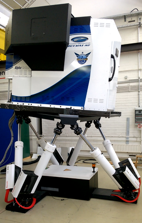 Flugsimulator mit Bewegungsplattform