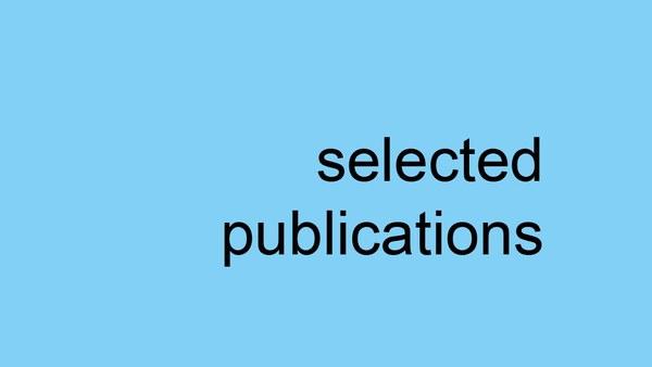 Ausgewählte Veröffentlichungen