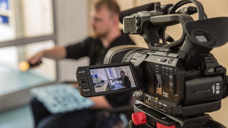 Aufnahmen im Medienzentrum