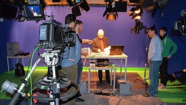 Aufnahmen im Fernsehstudio