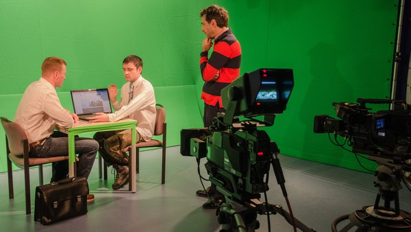 Filmset im Studio