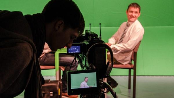 Darsteller und Kameramann