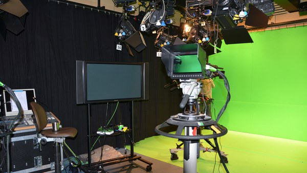 Studio mit Greenscreen