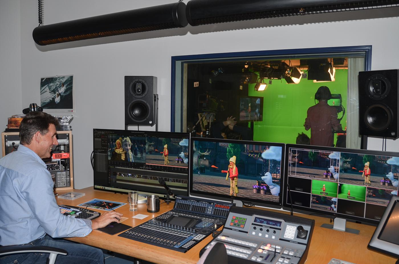 Die Regie ist das Kontrollzentrum unseres Fernsehstudios.