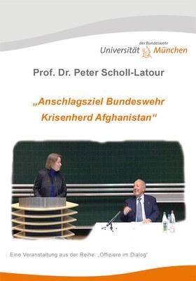 """DVD Cover zu """"Anschlagsziel Bundeswehr - Krisenherd Afghanistan"""" - Vortrag von Peter Scholl-Latour"""