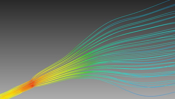 Simulation of dilute flow in EUV optics