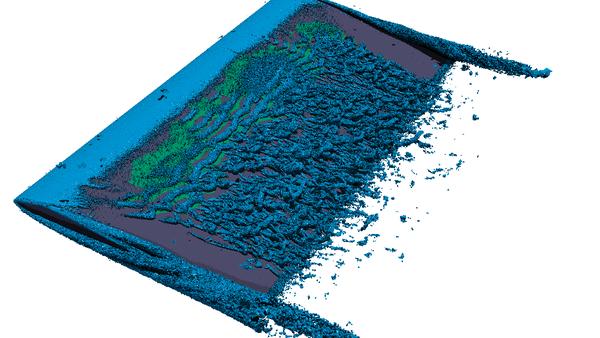 Simulation of laminar separation on airfoils
