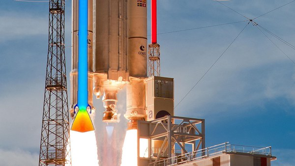 Simulation of solid-propellant rocket booster internal ballistics