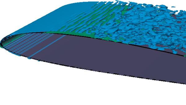 Strömung um den SD7003 Tragflügel