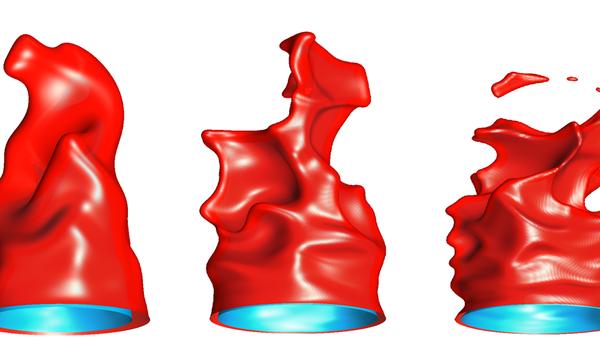 Bunsenflammen in Standard- und Hochdruckumgebung Simulationsergebnis