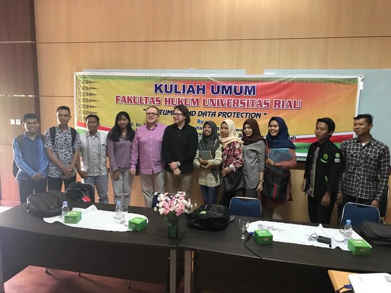 Vorlesung an der Universitas Riau UI 2018 II