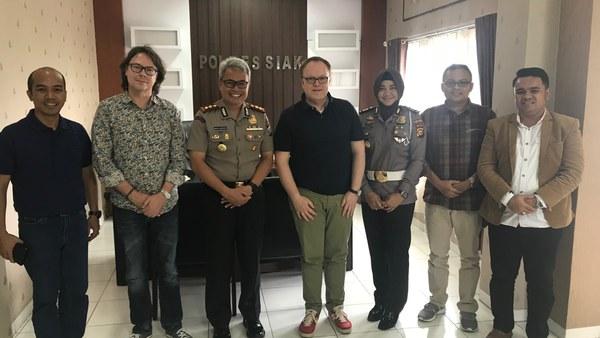 Besuch beim Polizeipräsidenten der Provinz Siak/Sumatra 2018