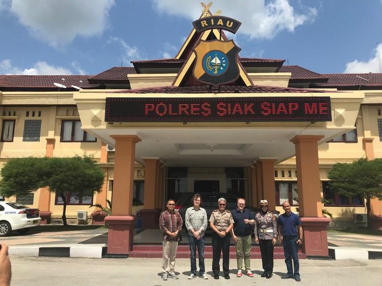 Besuch beim Polizeipräsidenten der Provinz Siak/Sumatra 2018 -