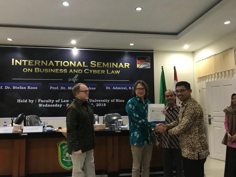 Int. Sem. an der juristischen Fakultät UIR 2018