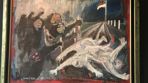 Universitas Trisakti - Erinnerung an die Militärgewalt vom 12.5.1998 und die Tötung von vier Studierenden