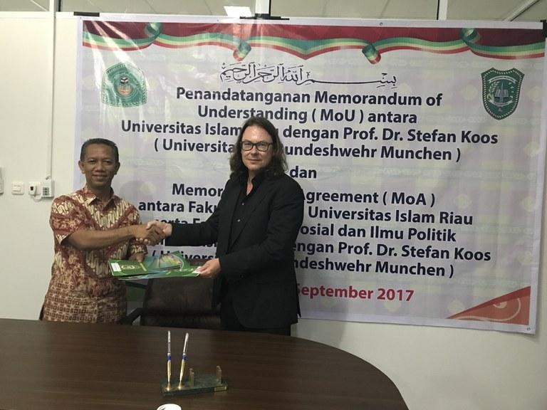 Kooperation mit der Universitas Islam Riau in Pekanbaru/Indonesien