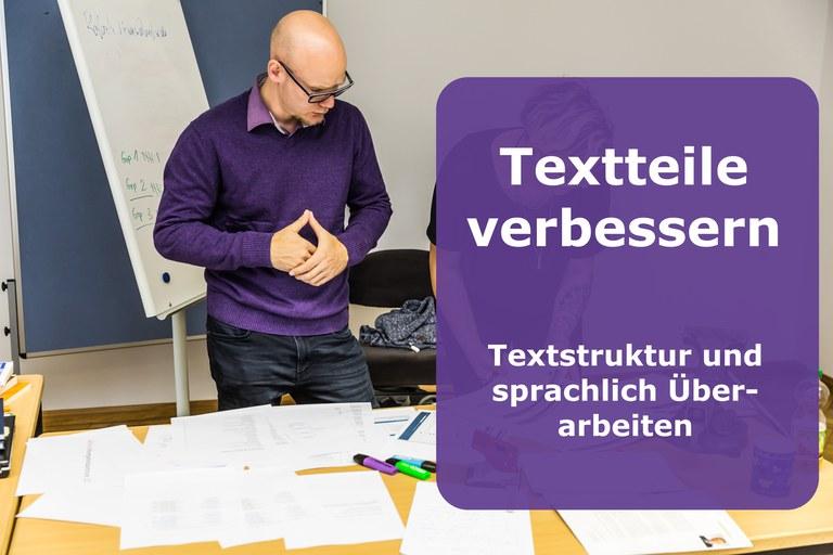 Textteile verbessern: Textstruktur und sprachlich überarbeiten (b)