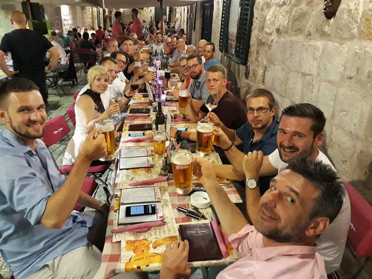 Final dinner in Dubrovnik