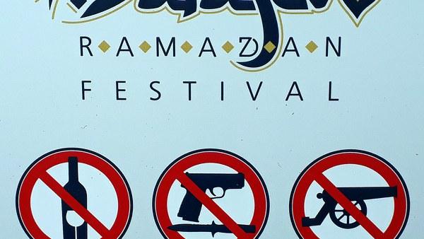 Humorous announcement of the Ramadan festival