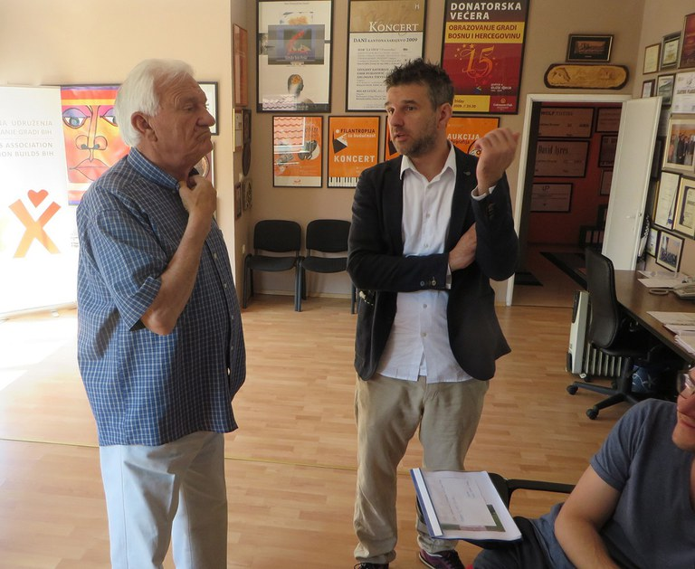 Discussion with Jovan Divjak, Bosnian general