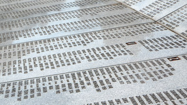 Names of victims (Potocari Memorial Center and Cemetery)