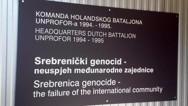 Srebrenica – The failure of the international community