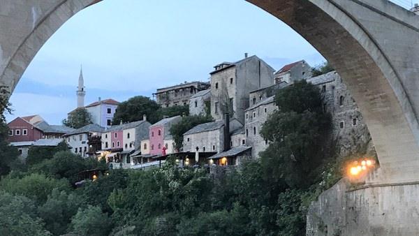 The reconstructed Old Bridge in Mostar