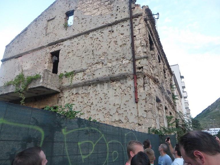 War damage in Mostar